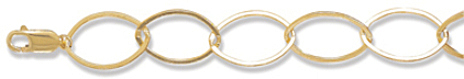 "7"" 14/20 Gold Filled Marquise Shape Link Bracelet"