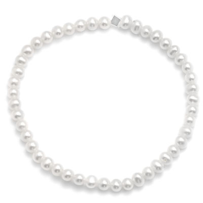 "5.5"" White Cultured Freshwater Pearl Stretch Bracelet - DISCONTINUED"