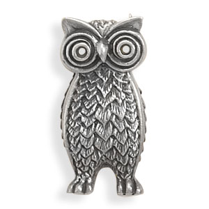 Owl Pin 925 Sterling Silver - DISCONTINUED