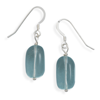 Blue Quartz Earrings 925 Sterling Silver - DISCONTINUED