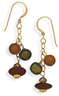 14/20 Gold Filled Multibead Drop Earrings - DISCONTINUED