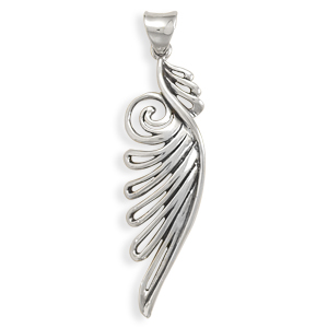 Ornate Angel Wing Pendant 925 Sterling Silver - DISCONTINUED