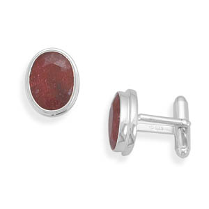 Ruby cuff links 925 Sterling Silver - DISCONTINUED