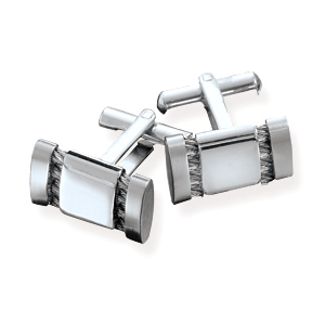 316L Stainless steel cuff links with double row cable design- DISCONTINUED