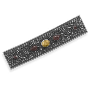 Multistone Hair Clip 925 Sterling Silver- DISCONTINUED