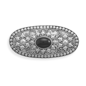 Hair Clip with Black Onyx 925 Sterling Silver - DISCONTINUED