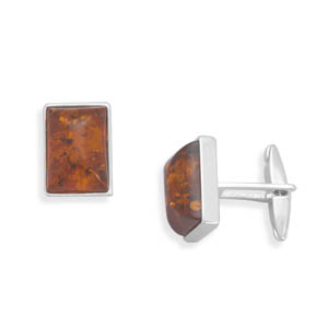 Amber Cuff Links 925 Sterling Silver - DISCONTINUED