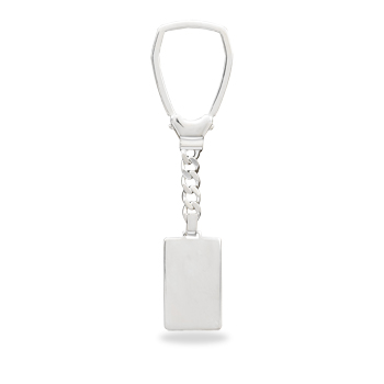 Engravable Key Chain 925 Sterling Silver - DISCONTINUED