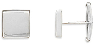 Engraveable Cuff Links 925 Sterling Silver