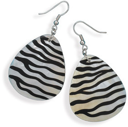 Animal Print Shell Fashion Earrings