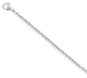 "18"" stainless steel cable chain necklace."