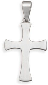Reversible Stainless Steel Cross Pendant