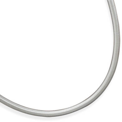 "22"" 6mm (1/4"") Stainless Steel Oval Snake Chain"