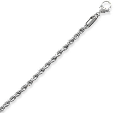 "7"" 4mm (1/6"") Stainless Steel Rope Chain"