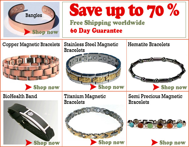 magnetic bracelets and braclets available now from billythetree.com!