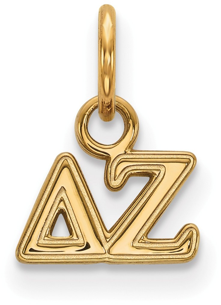 gold plated sterling silver delta zeta x small pendant by