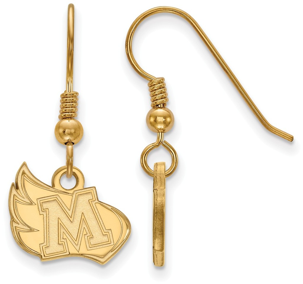 gold plated sterling silver meredith college small dangle