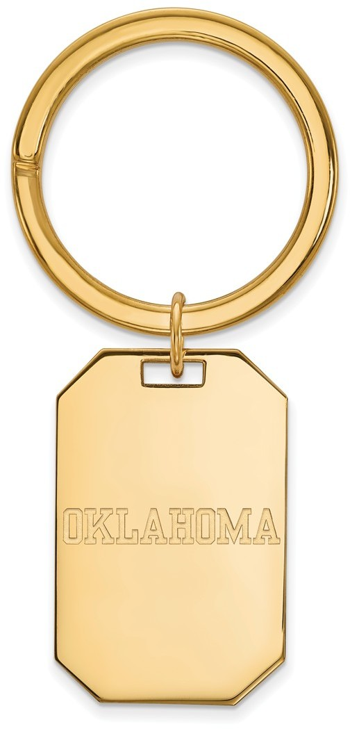 Gold Plated Sterling Silver University of Oklahoma Key
