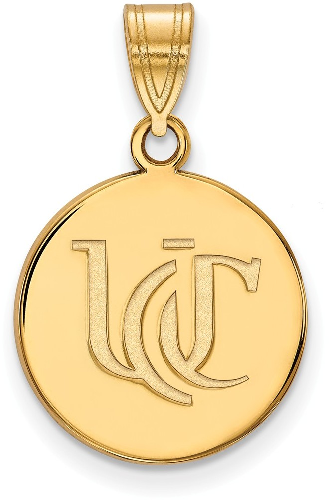 gold plated sterling silver university of cincinnati med