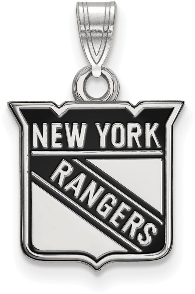 Sterling Silver NHL New York Rangers Small Enamel Pendant by LogoArt