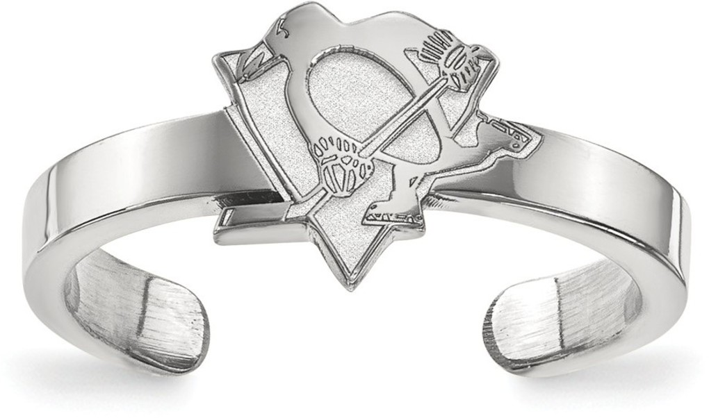 Sterling Silver NHL Pittsburgh Penguins Toe Ring by LogoArt