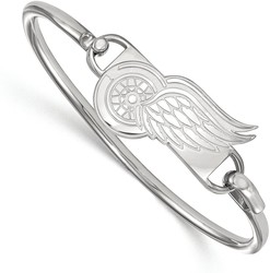 7 Quot Sterling Silver Nhl Detroit Red Wings Bangle By Logoart