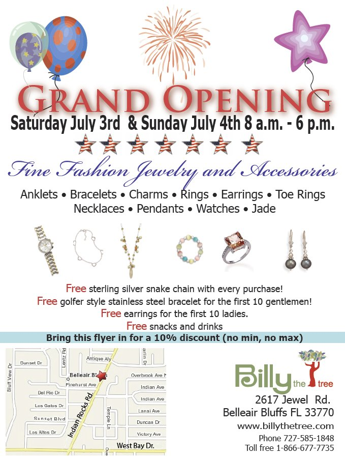 BillyTheTree Jewelry Grand Opening