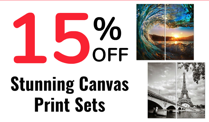 15% off stunning canvas sets!
