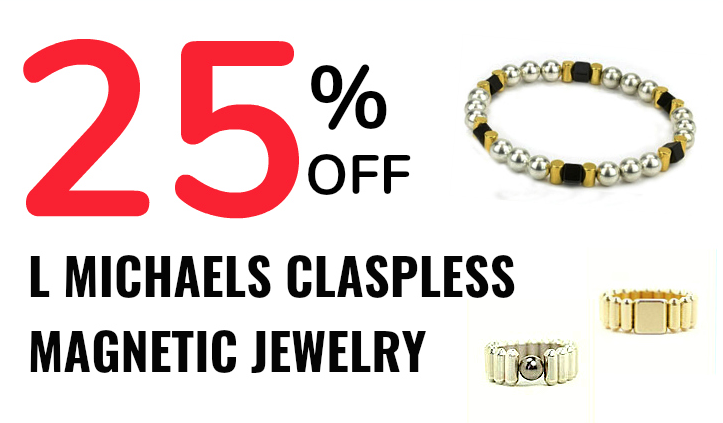 25% off claspless magnetic jewelry!