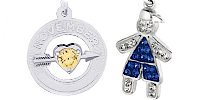 Birthstone Engravable Rembrandt Charms