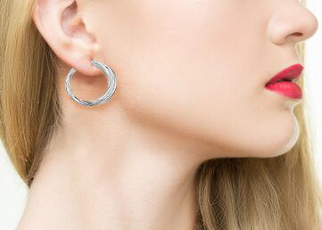 Hoop Sterling Silver Earrings