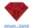 Garnet birthstone jewelry at BillyTheTree Jewelry