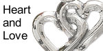 Heart and love charms 925 sterling silver