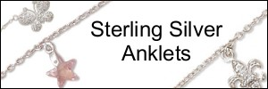 925 sterling silver anklets on sale now