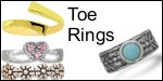 10k and 14k gold and sterling silver toe rings
