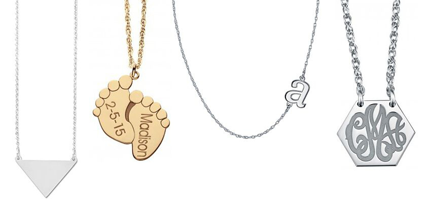 Sterling Silver Engravable and Personalized Necklaces