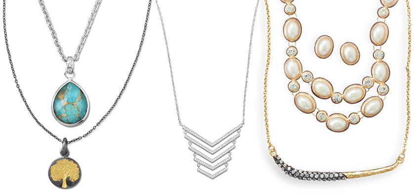 New Arrivals Sterling Silver Necklaces