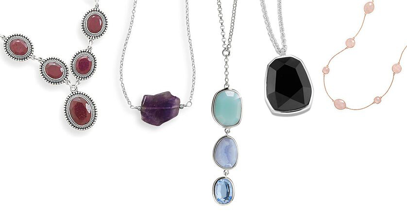 Sterling Gemstone Necklaces