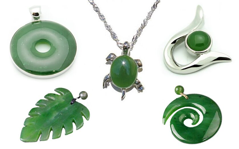 Genuine nephrite jade jewelry