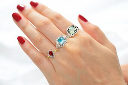 Sterling Silver Gemstone Rings