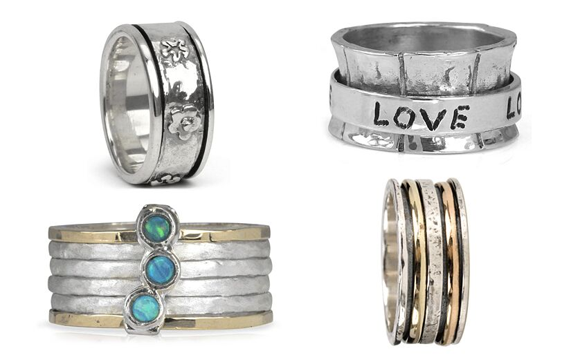 Sterling Silver Spinner Rings