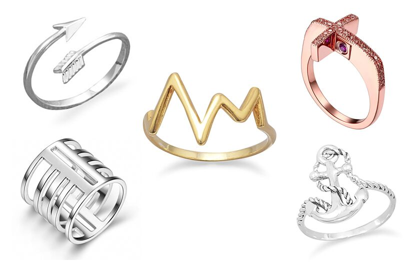 Trendy Sterling Silver Rings