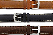 Classic Stitch Style Leather Watch Bands