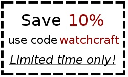 Save 10% on your WatchCraft purchase today!