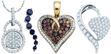 Diamond Pendants at BillyTheTree Jewelry feature beautiful designs and attractive pricing