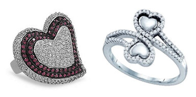Beautiful collection of heart-themed rings that say it all.