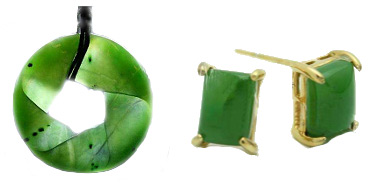 Genuine nephrite jade jewelry, from the mines of Canada