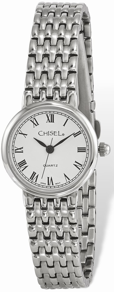 Ladies Chisel Stainless Steel White Dial Watch TPW123