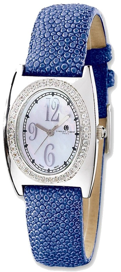 Ladies Charles Hubert Blue Stingray 0.75ctw Diamond 29x32mm Watch