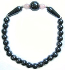 Large Globe - Hematite Magnetic Therapy Bracelet (MHB-26) - DISCONTINUED